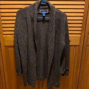 NWOT Chocolate brown cardigan sweater